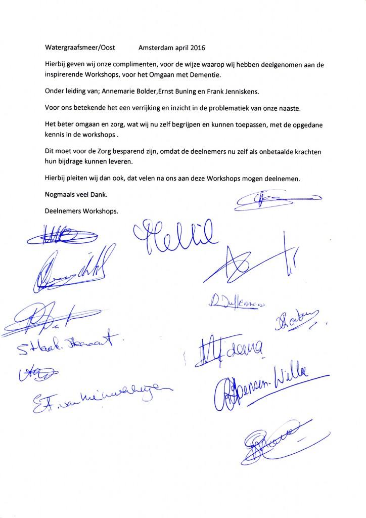 petitie deelnemers